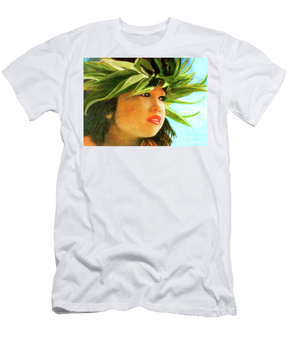 Keiki Men's T-Shirt (Athletic Fit) featuring the painting Child Keiki In Hawaiian No# 84 by Donald k Hall