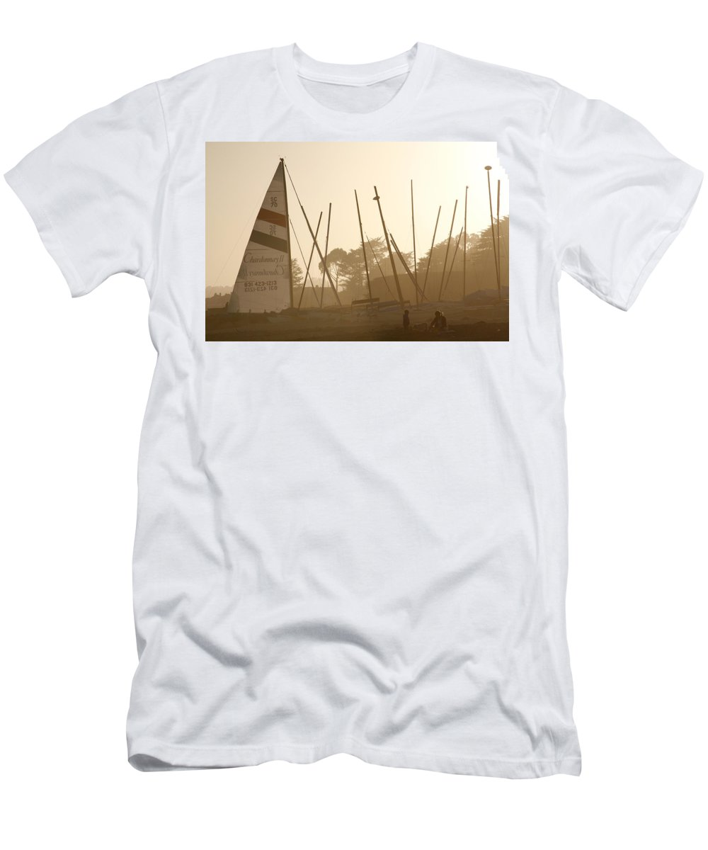 Ship Men's T-Shirt (Athletic Fit) featuring the photograph Child's Play by Marilyn Hunt
