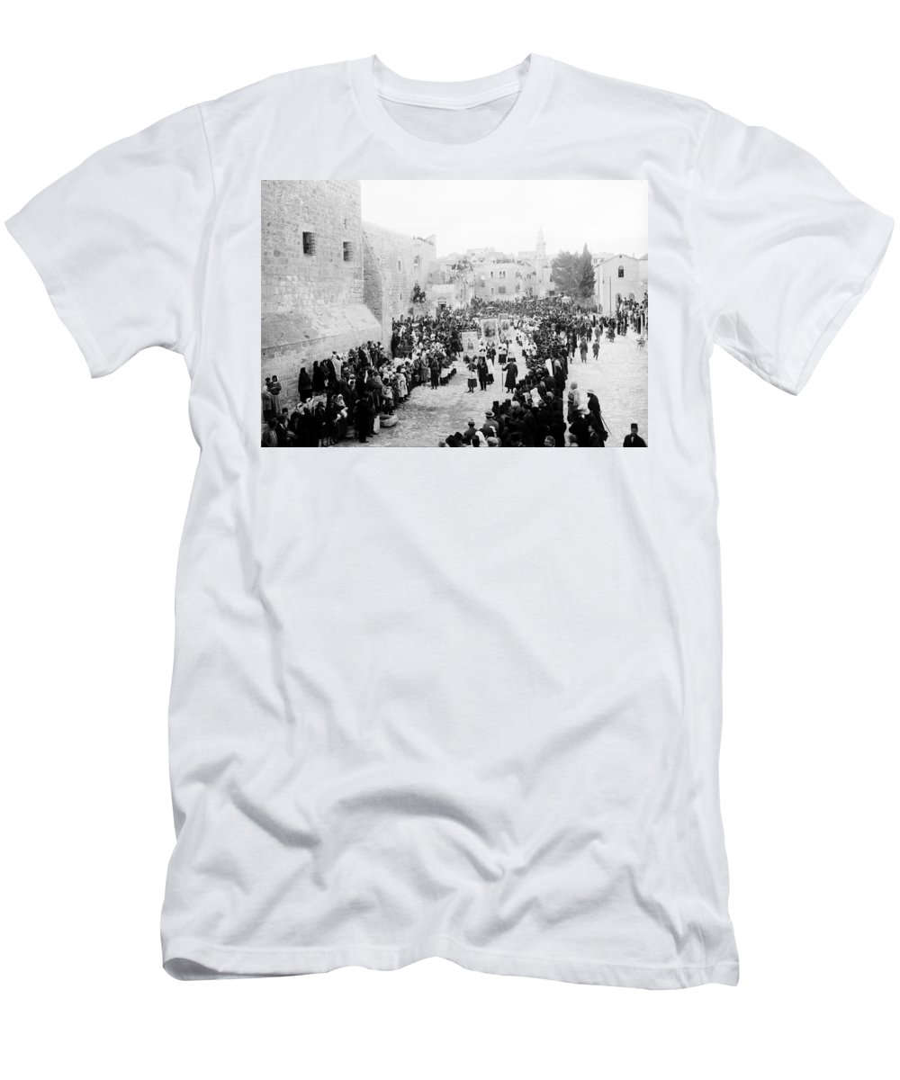 Christmas Men's T-Shirt (Athletic Fit) featuring the photograph Christmas Celebration 1900s by Munir Alawi