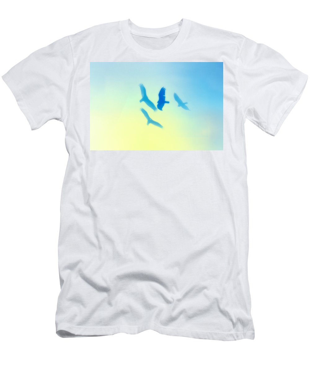 Hawks Men's T-Shirt (Athletic Fit) featuring the photograph Circling by Bill Cannon