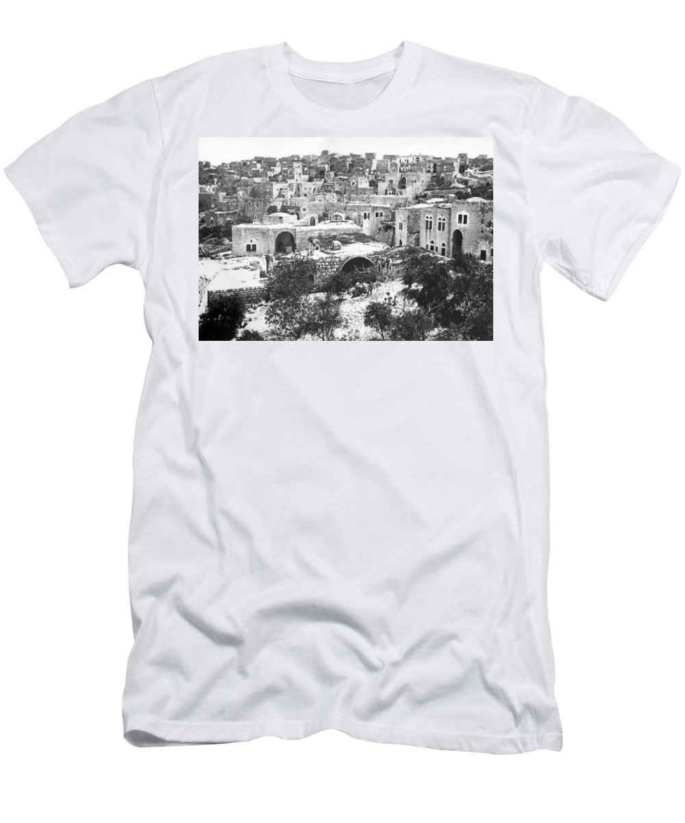 Bethlehem Men's T-Shirt (Athletic Fit) featuring the photograph City Of David Bethlehem by Munir Alawi