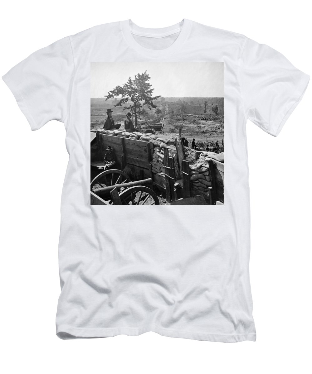 1864 Men's T-Shirt (Athletic Fit) featuring the photograph Civil War: Atlanta, 1864 by Granger