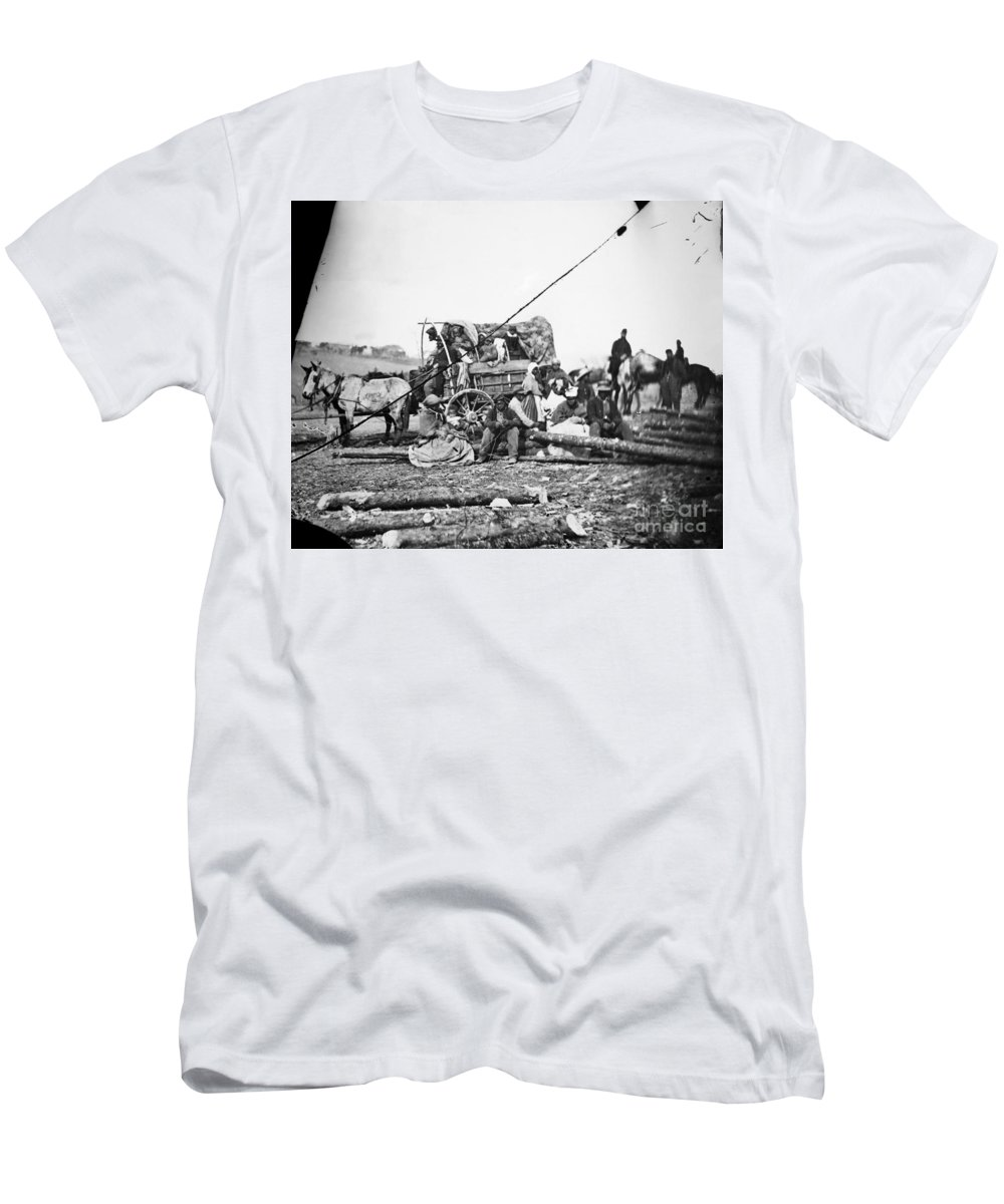 1860s Men's T-Shirt (Athletic Fit) featuring the photograph Civil War: Former Slaves by Granger