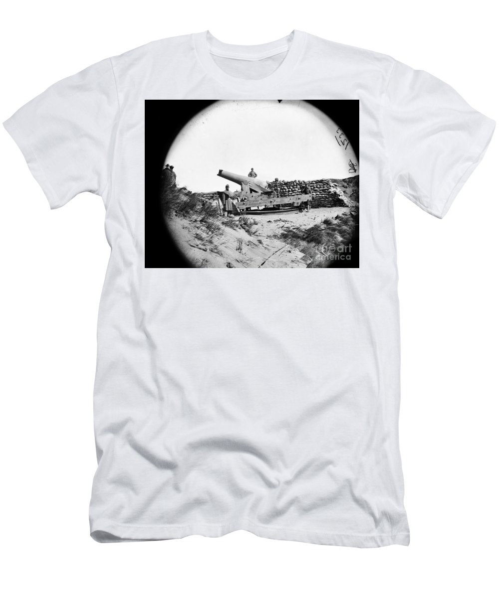 1865 Men's T-Shirt (Athletic Fit) featuring the photograph Civil War: Fort Fisher, 1865 by Granger