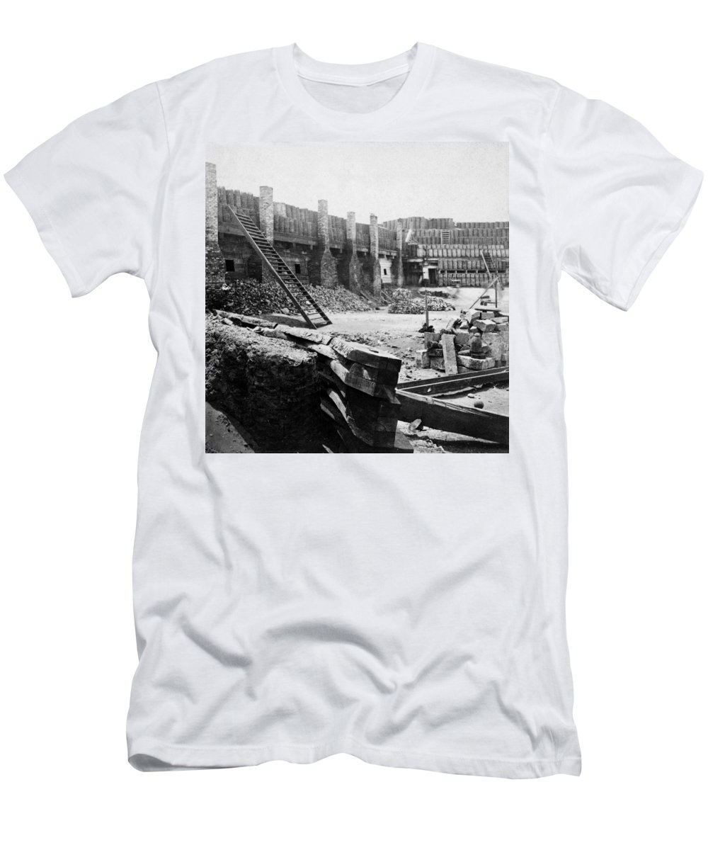 1862 Men's T-Shirt (Athletic Fit) featuring the photograph Civil War: Fort Sumter by Granger