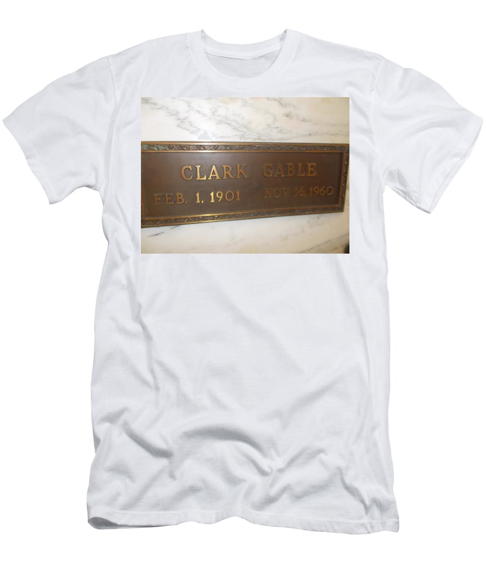 Clark Gable Forest Lawn Clark Gable Final Resting Place T-Shirt featuring the photograph Clark Gable by Dawn Wirth