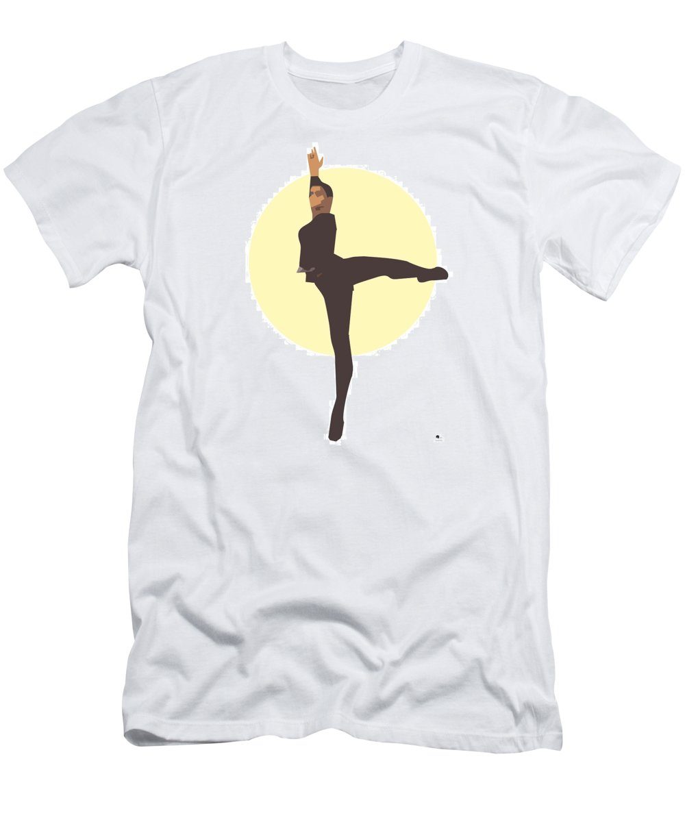 Dancer Men's T-Shirt (Athletic Fit) featuring the digital art Classic Ballet Dancer by Joaquin Abella