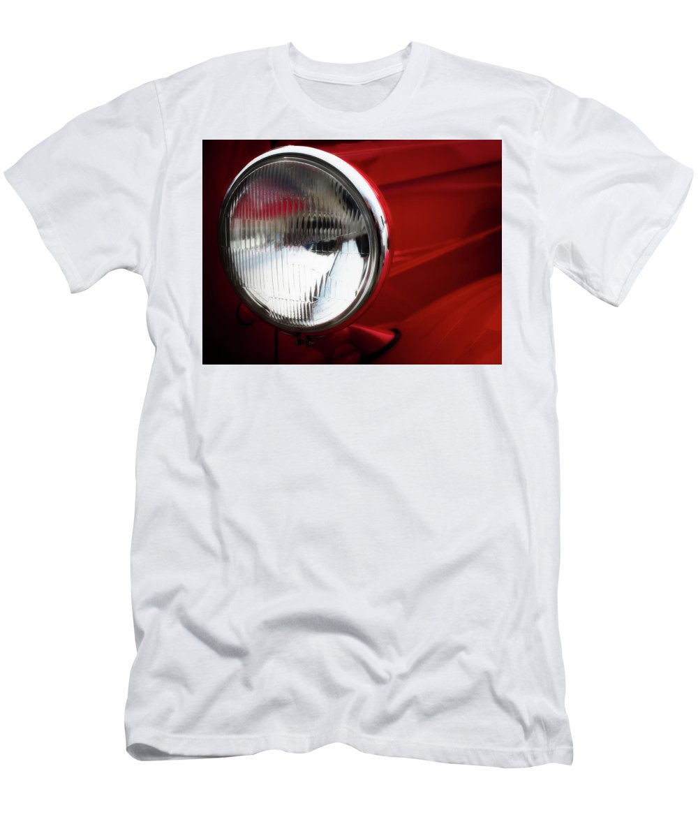 Auto Men's T-Shirt (Athletic Fit) featuring the photograph Classic Red by David Kay