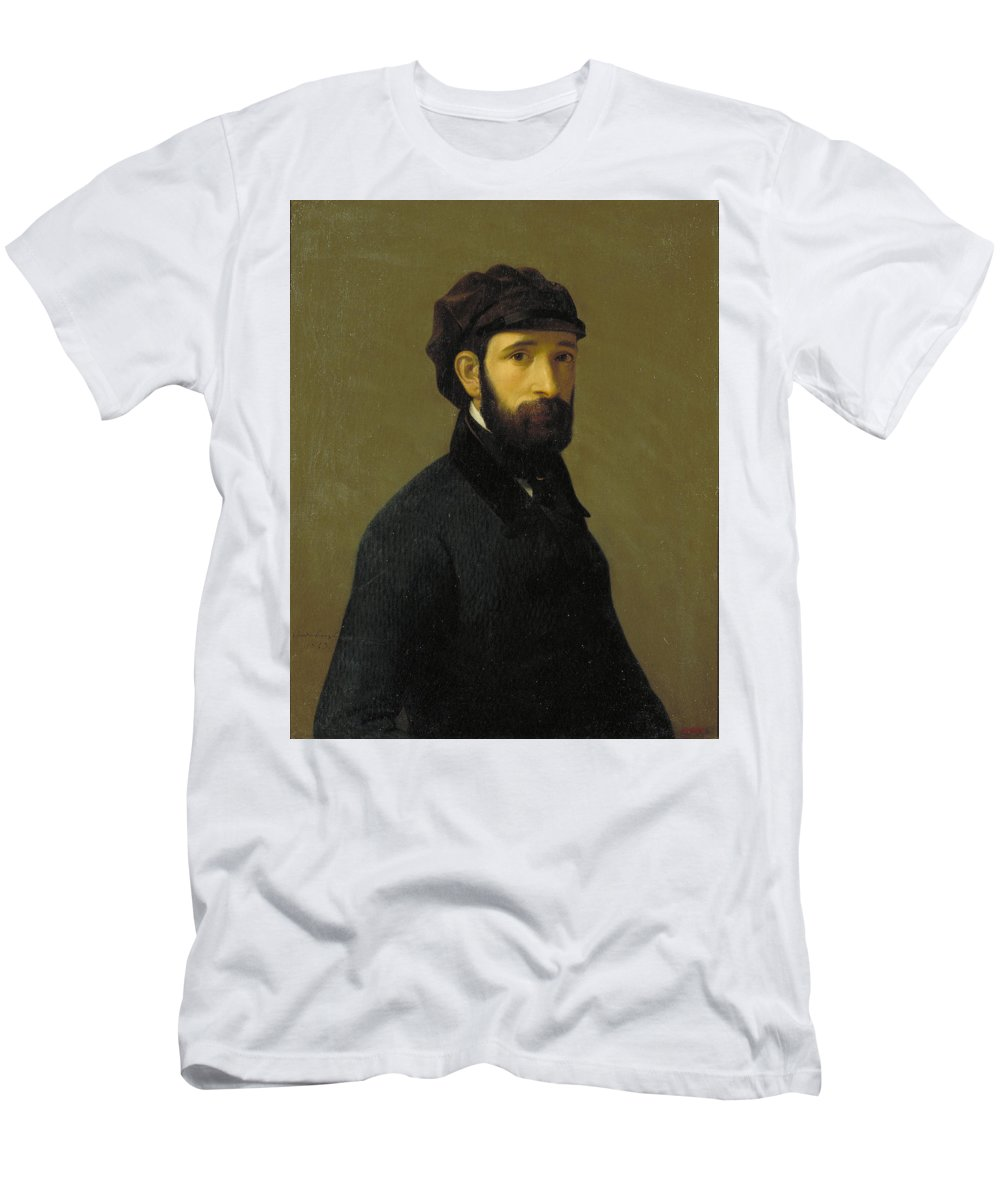 Lorenzale Men's T-Shirt (Athletic Fit) featuring the painting Claudi by MotionAge Designs