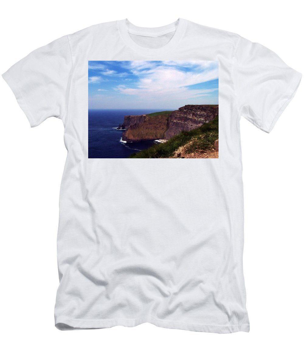 Irish Men's T-Shirt (Athletic Fit) featuring the photograph Cliffs Of Moher Aill Na Searrach Ireland by Teresa Mucha