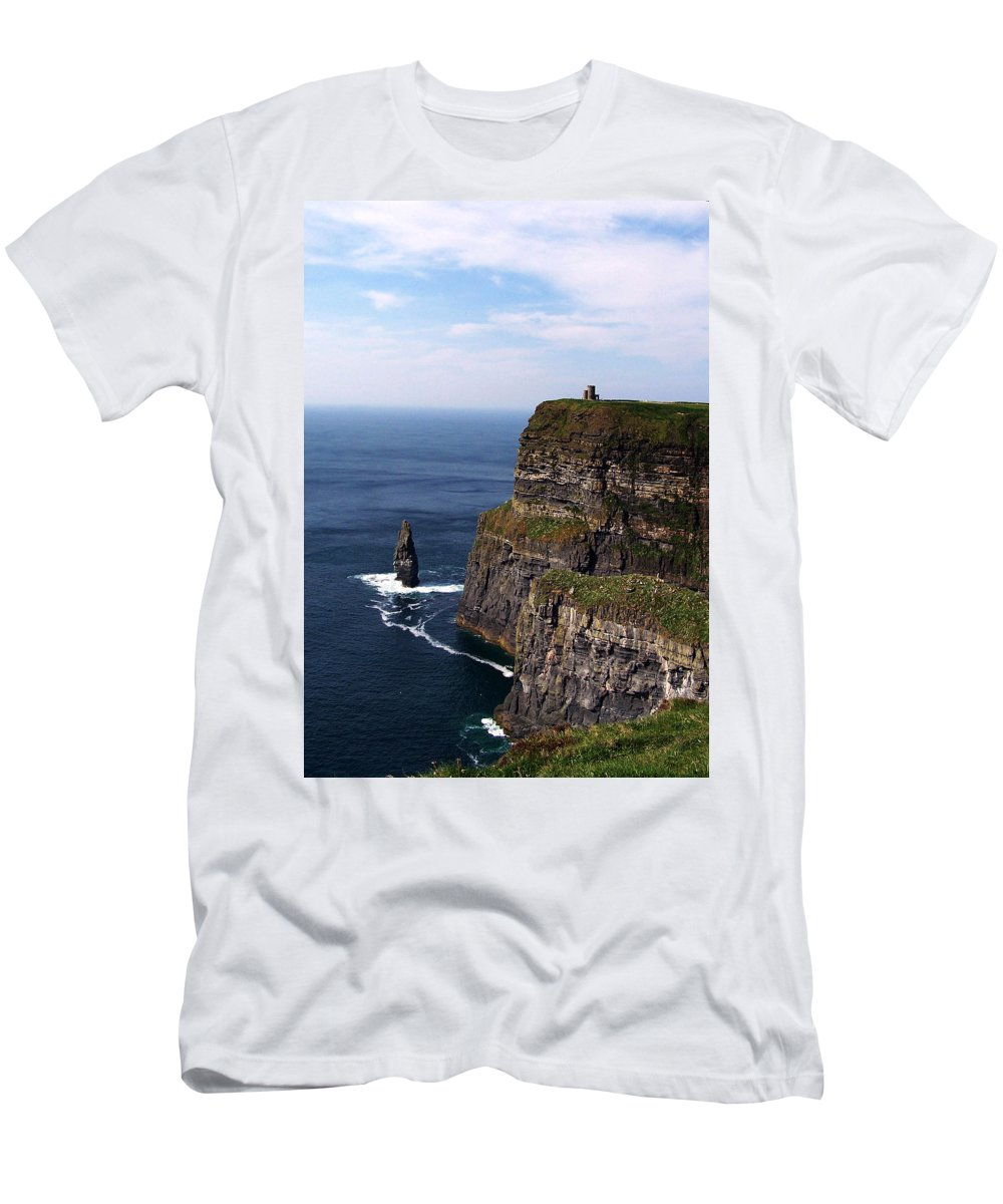 Irish Men's T-Shirt (Athletic Fit) featuring the photograph Cliffs Of Moher County Clare Ireland by Teresa Mucha