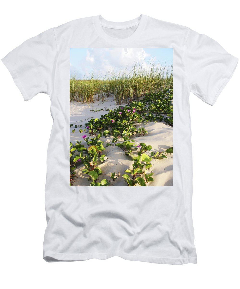 Nature Men's T-Shirt (Athletic Fit) featuring the photograph Climbing The Dunes by Marilyn Hunt