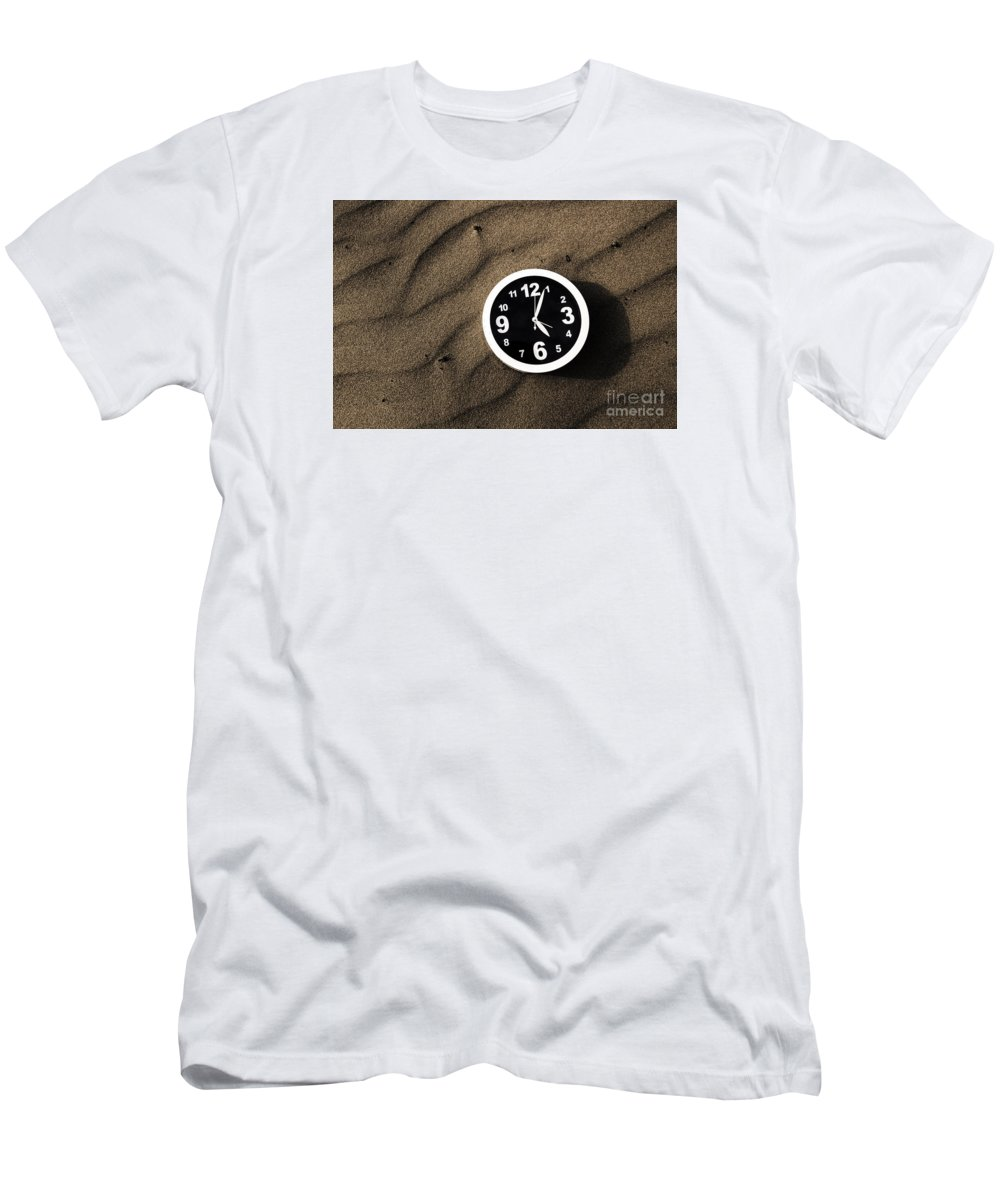 Waiting Men's T-Shirt (Athletic Fit) featuring the photograph Clocks And Ripples by Jorgo Photography - Wall Art Gallery