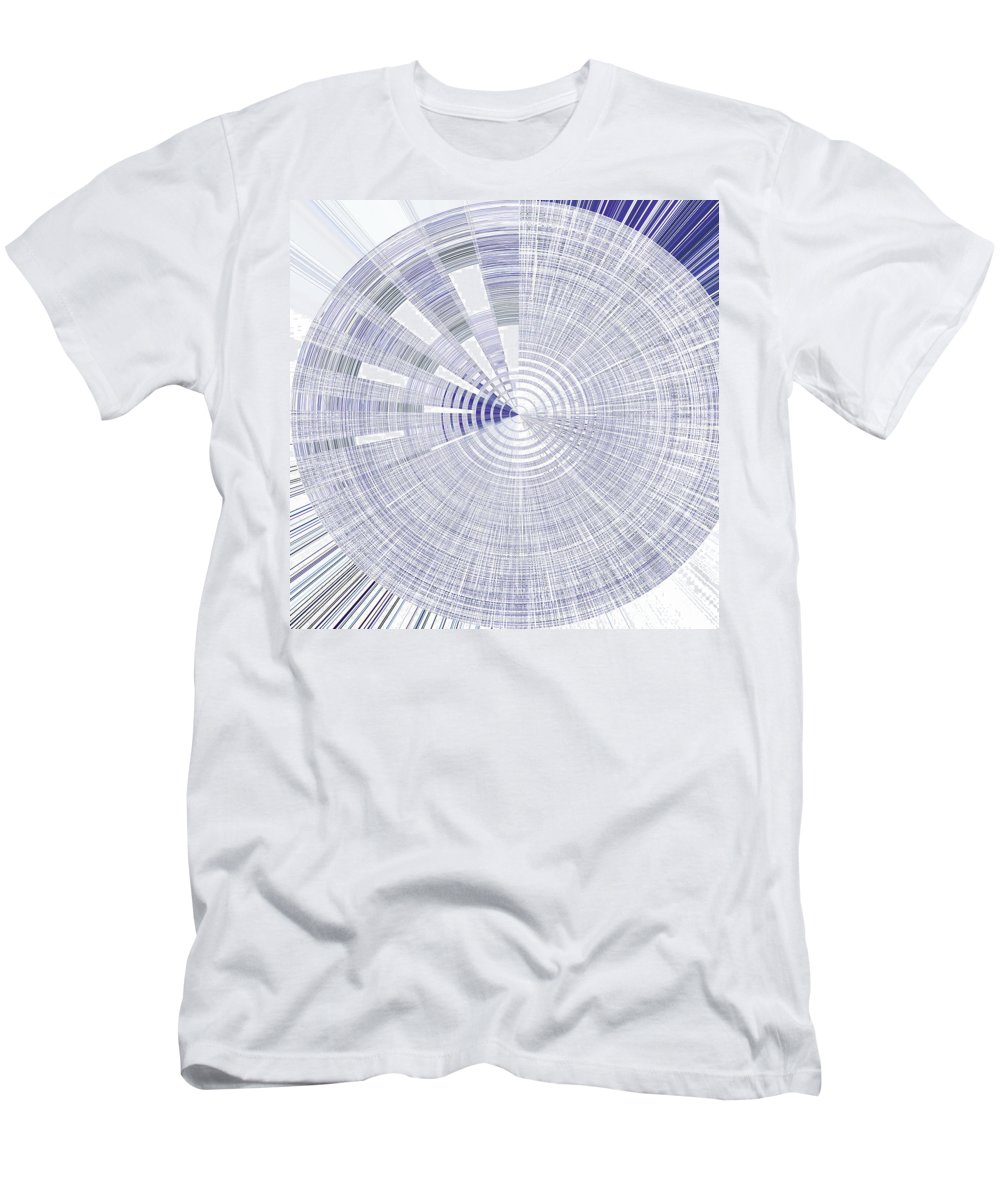 Abstract Men's T-Shirt (Athletic Fit) featuring the painting Cloudy Day by Odele Lippel