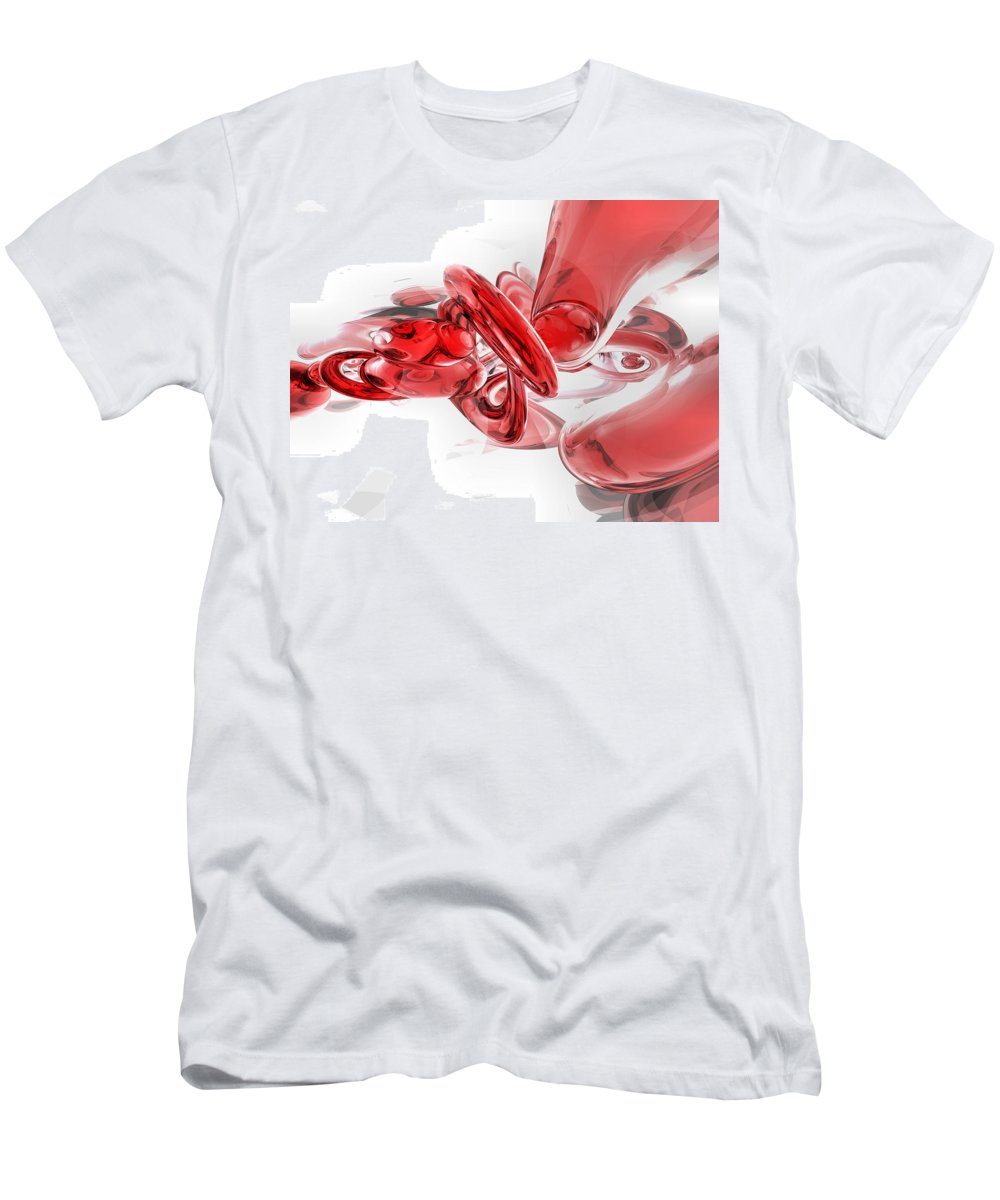 3d Men's T-Shirt (Athletic Fit) featuring the digital art Coagulation Abstract by Alexander Butler