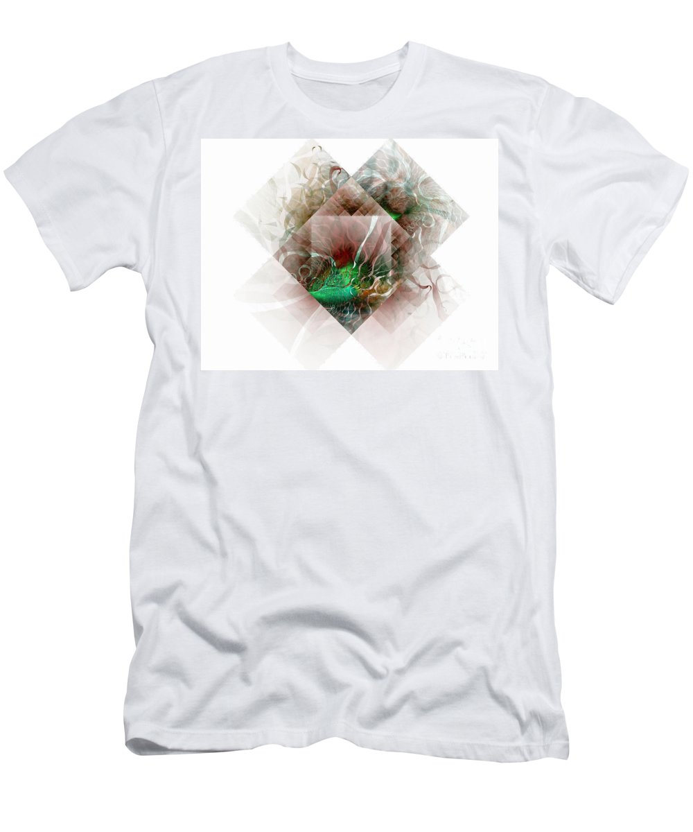 Digital Art Men's T-Shirt (Athletic Fit) featuring the digital art Coastal Memoirs by Amanda Moore