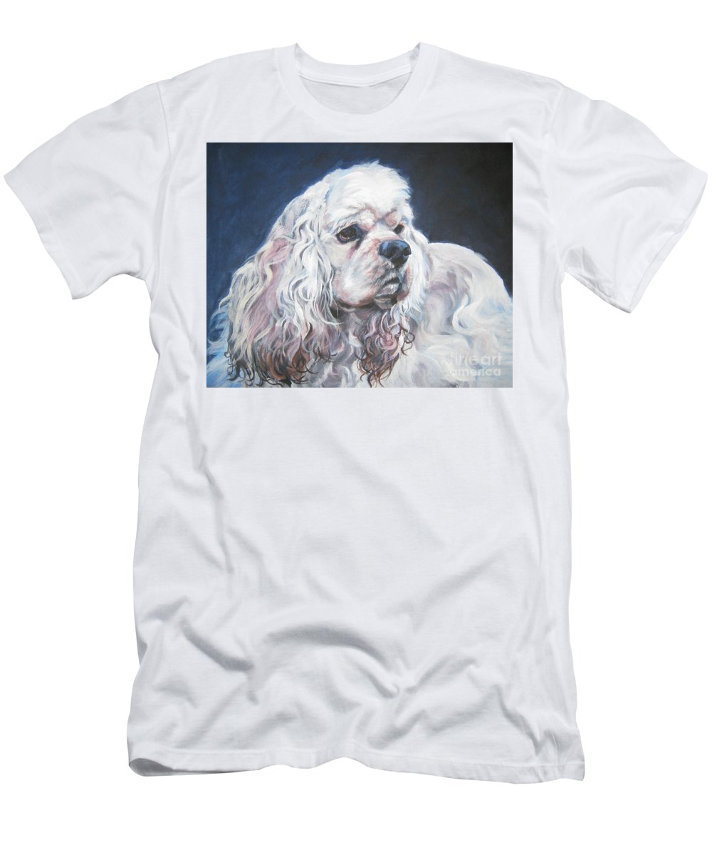 Cocker Spaniel Men's T-Shirt (Athletic Fit) featuring the painting Cocker Spaniel 1 by Lee Ann Shepard