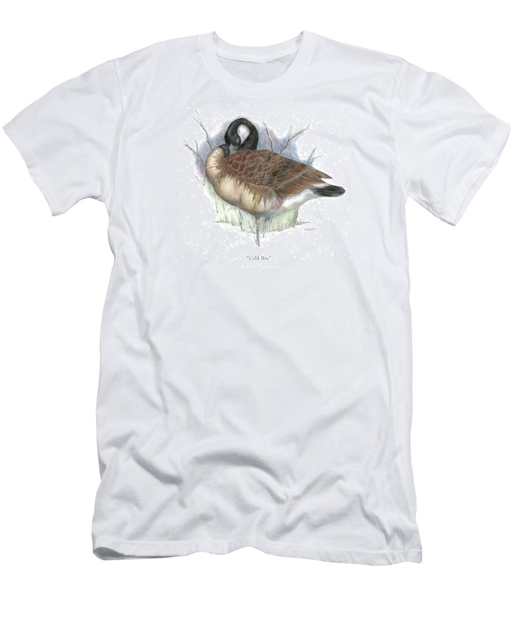 Canadian Goose Men's T-Shirt (Athletic Fit) featuring the drawing Cold Bay by David Weaver