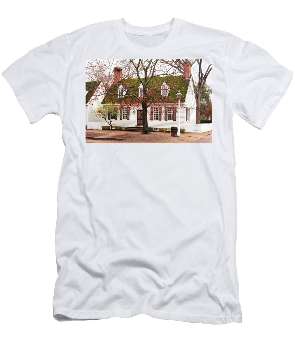 American Men's T-Shirt (Athletic Fit) featuring the photograph Colonial House by Lou Ford