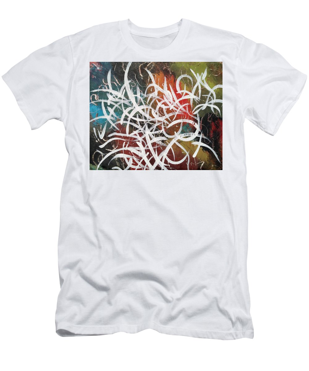 Colorful Men's T-Shirt (Athletic Fit) featuring the painting Color by Dalton Batastini