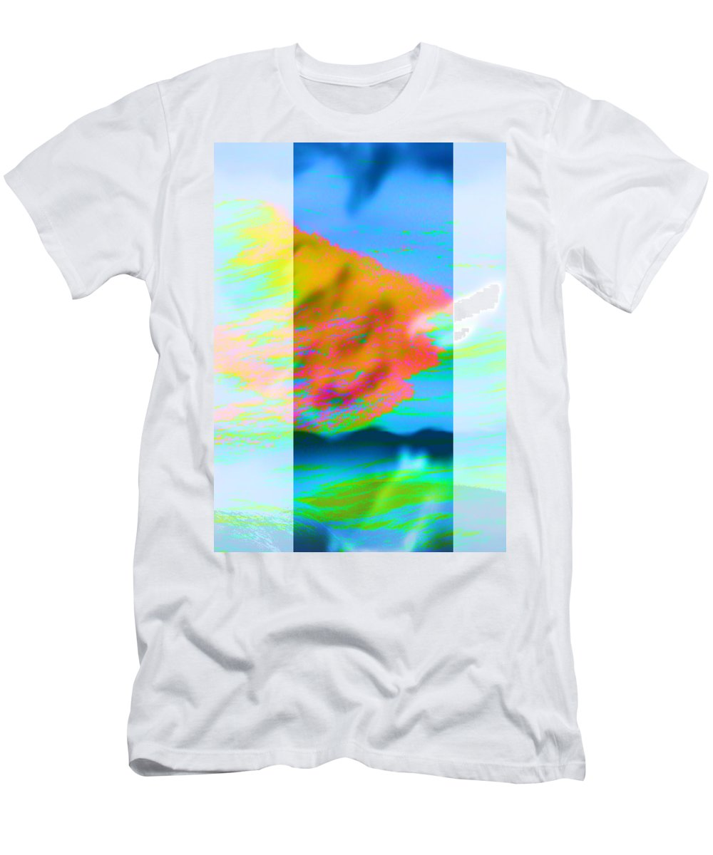 Color Men's T-Shirt (Athletic Fit) featuring the digital art Color Wave by Are Lund