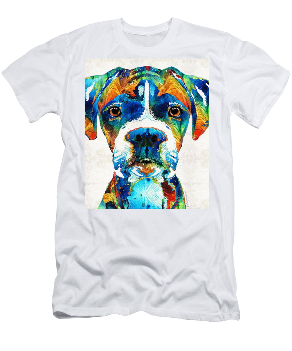 Colorful Boxer Dog Art By Sharon Cummings T Shirt For Sale By Sharon