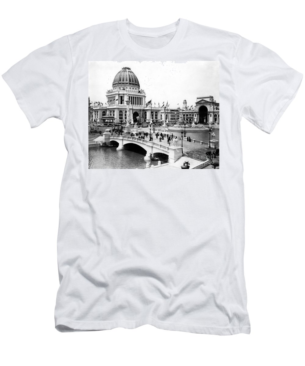 -event- Men's T-Shirt (Athletic Fit) featuring the photograph Columbian Expo, 1893 by Granger
