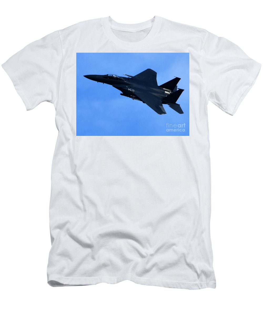 Jet Men's T-Shirt (Athletic Fit) featuring the photograph Combat Jet by Hughes Country Roads Photography