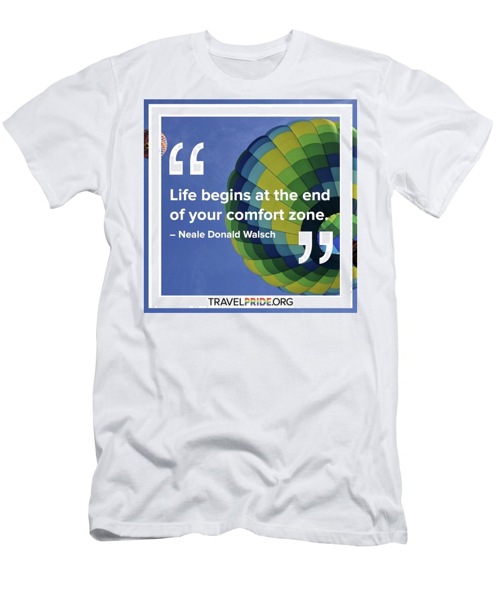 Travel Men's T-Shirt (Athletic Fit) featuring the digital art Comfort Zone by Travel Pride