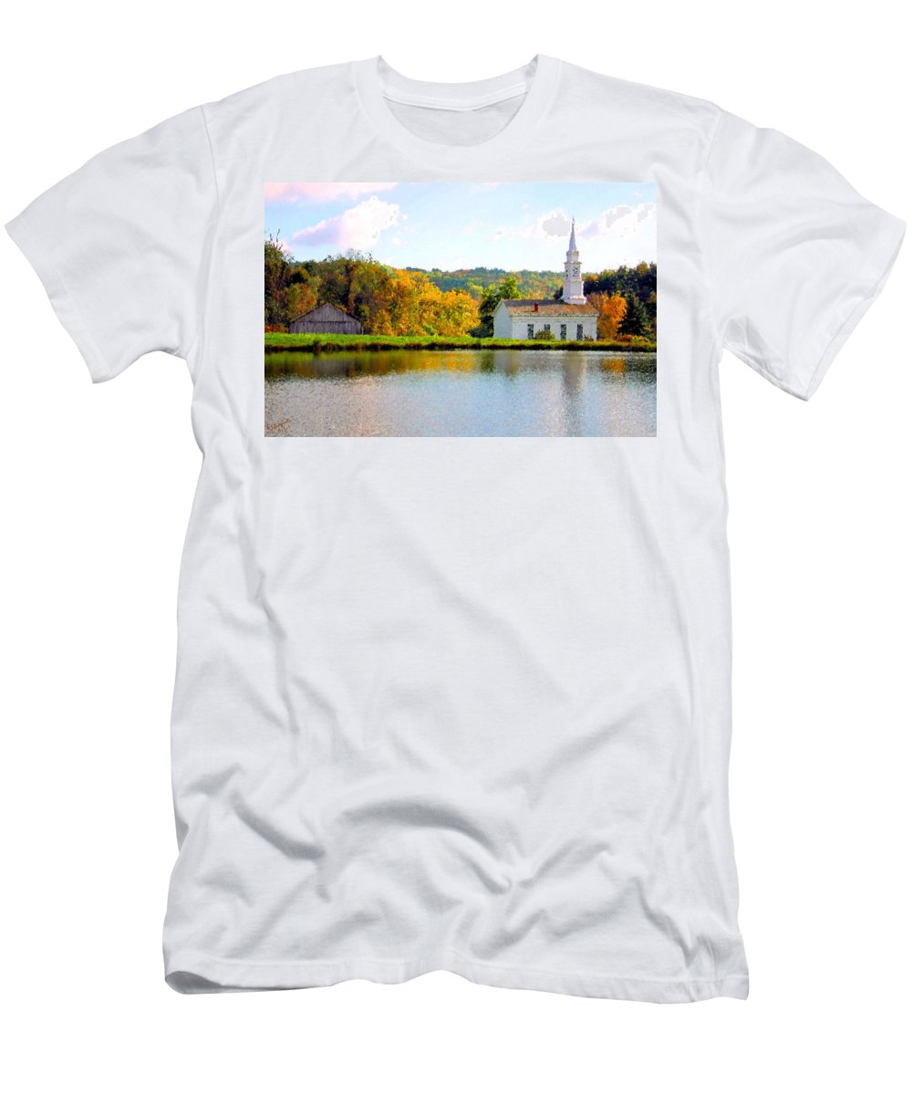 Church Men's T-Shirt (Athletic Fit) featuring the photograph Community by Kristin Elmquist