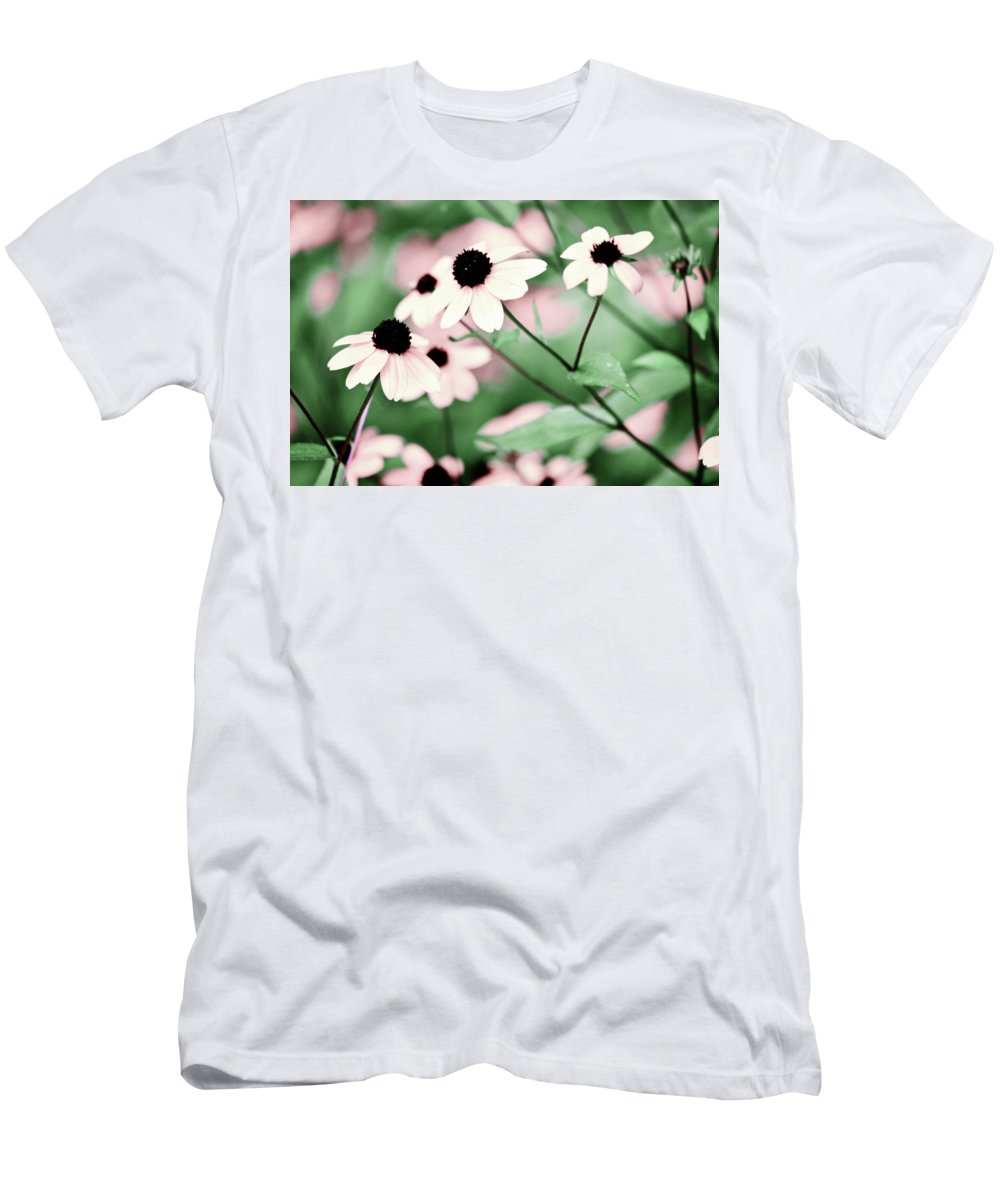 Coneflower Men's T-Shirt (Athletic Fit) featuring the photograph Coneflowers No. 8-2 by Sandy Taylor