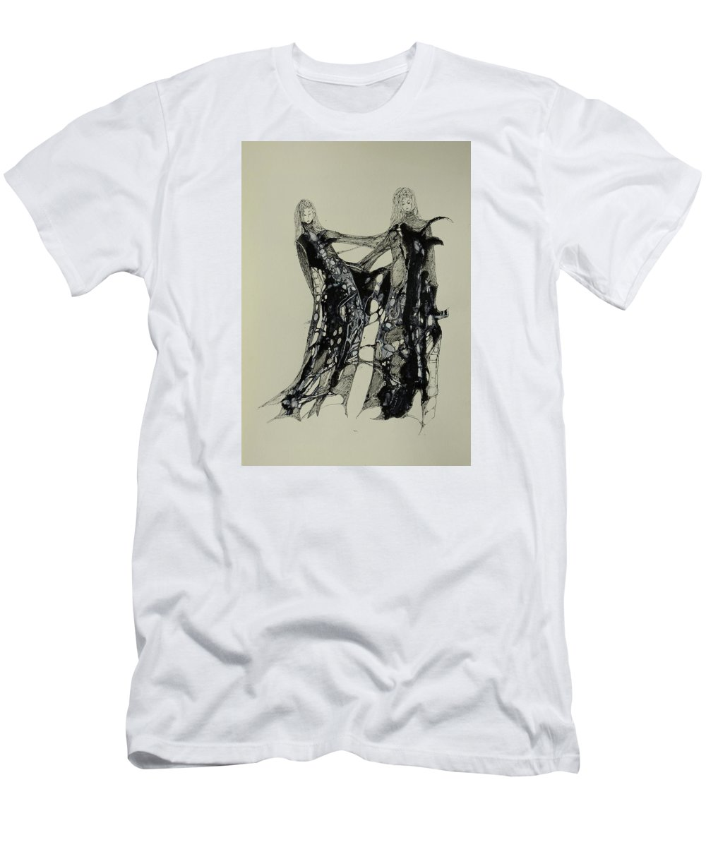 Art Men's T-Shirt (Athletic Fit) featuring the painting Connected by Pascal Hagl