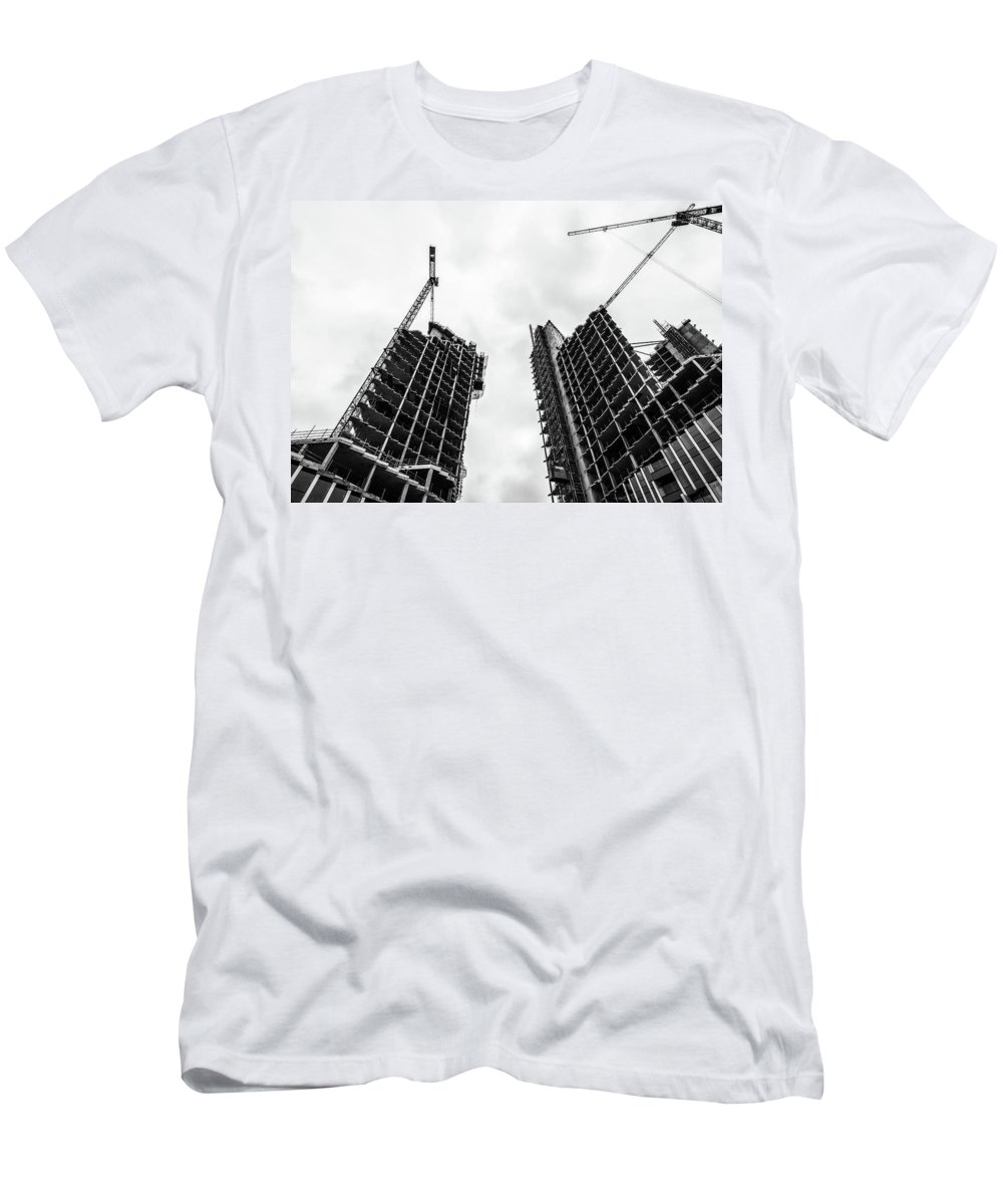 Architecture Men's T-Shirt (Athletic Fit) featuring the photograph Construction by Martin Newman