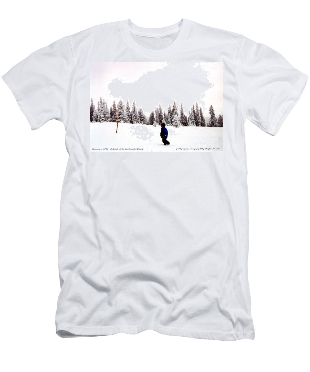 Clay Men's T-Shirt (Athletic Fit) featuring the photograph Continental Divide January 1 2000 by Clayton Bruster
