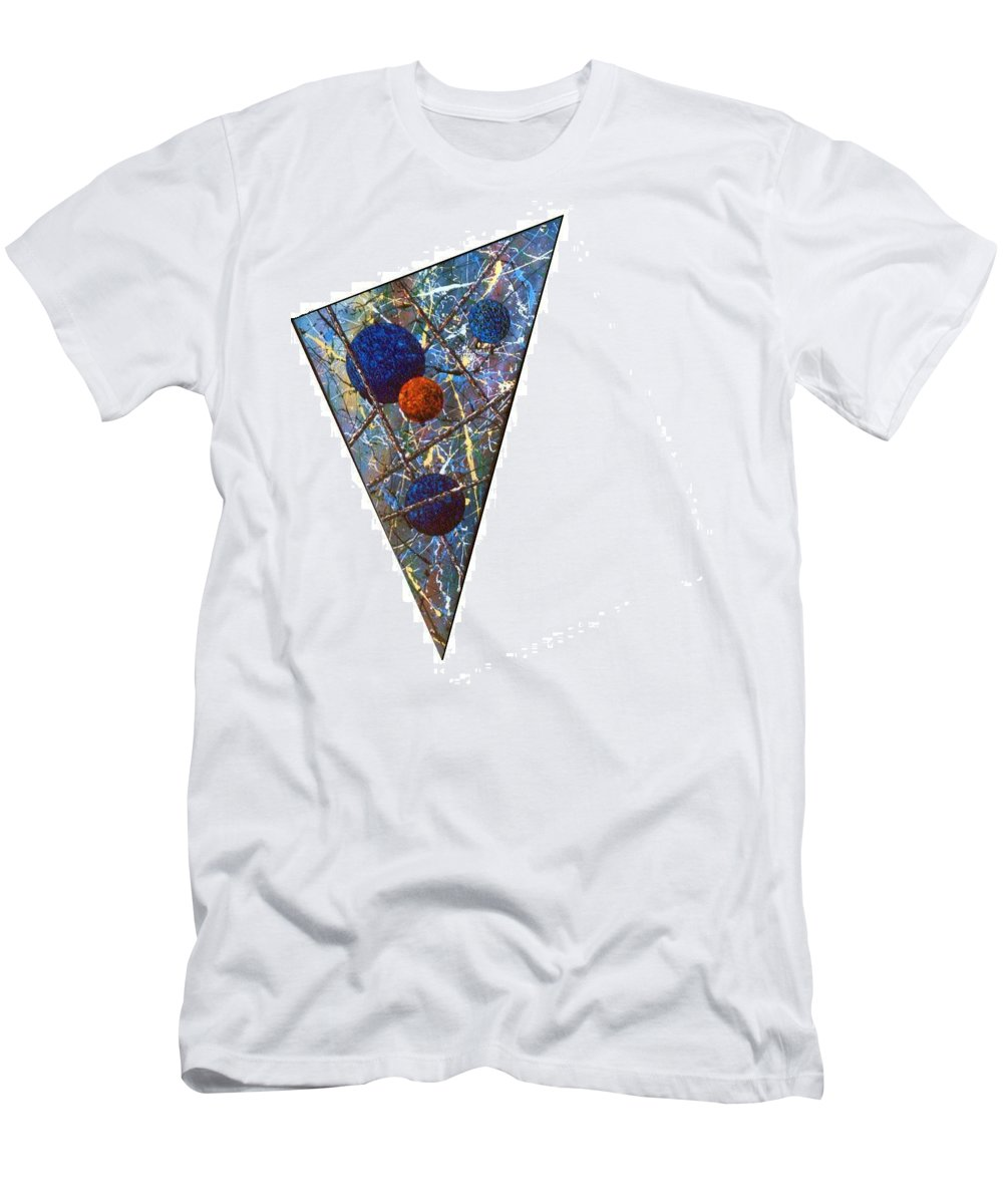 Abstract Men's T-Shirt (Athletic Fit) featuring the painting Continuum 3 by Micah Guenther