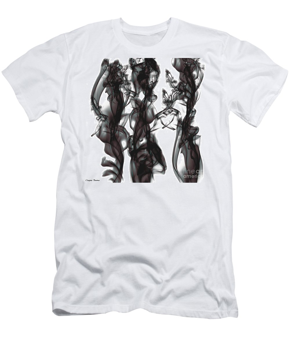 Clay Men's T-Shirt (Athletic Fit) featuring the digital art Conversations by Clayton Bruster