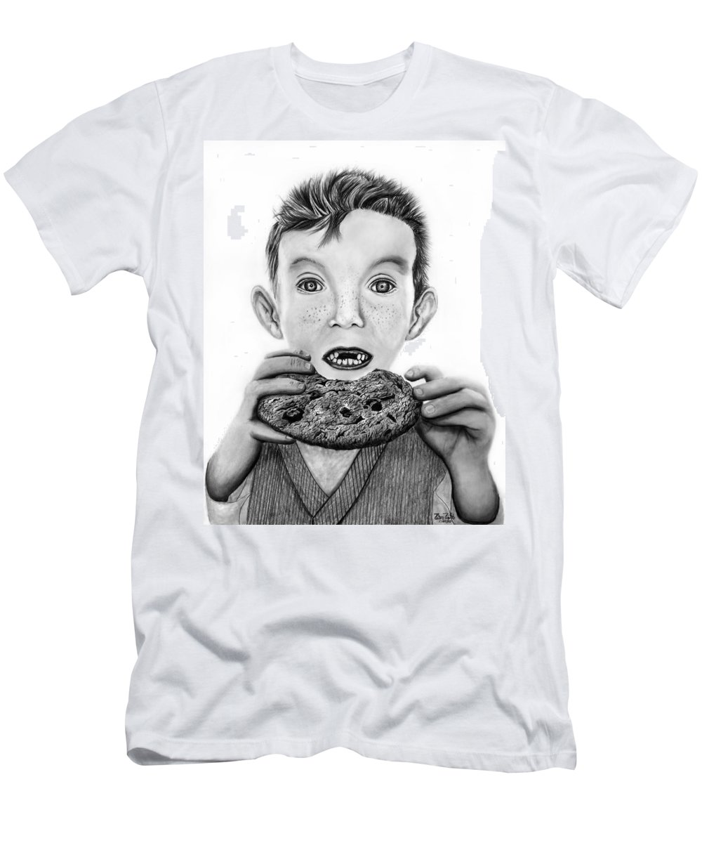 Cookie Surprise Men's T-Shirt (Athletic Fit) featuring the drawing Cookie Surprise by Peter Piatt