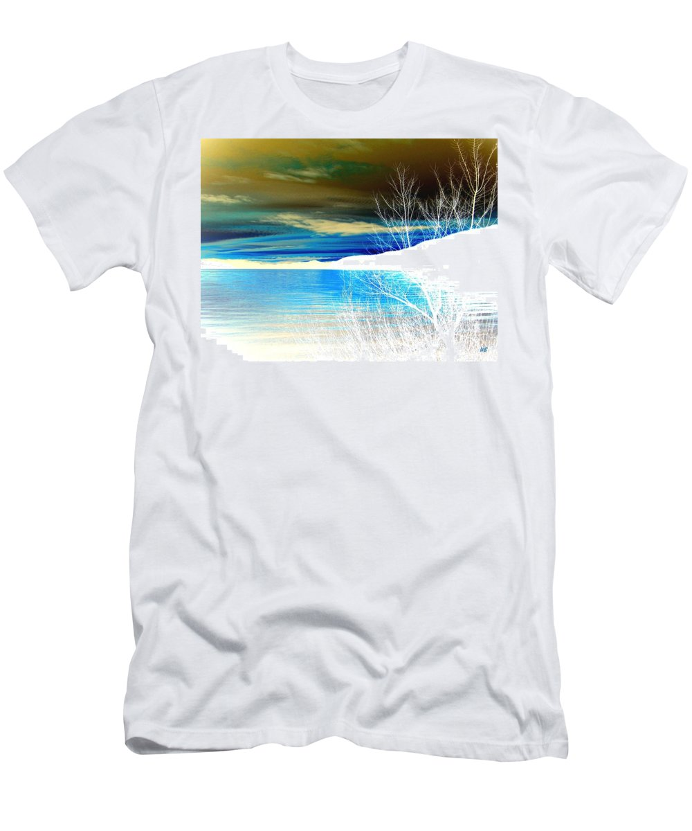 Winter Men's T-Shirt (Athletic Fit) featuring the digital art Cool Waters by Will Borden