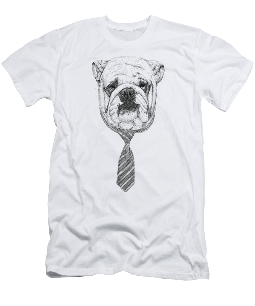 Dog T-Shirt featuring the drawing Cooldog by Balazs Solti