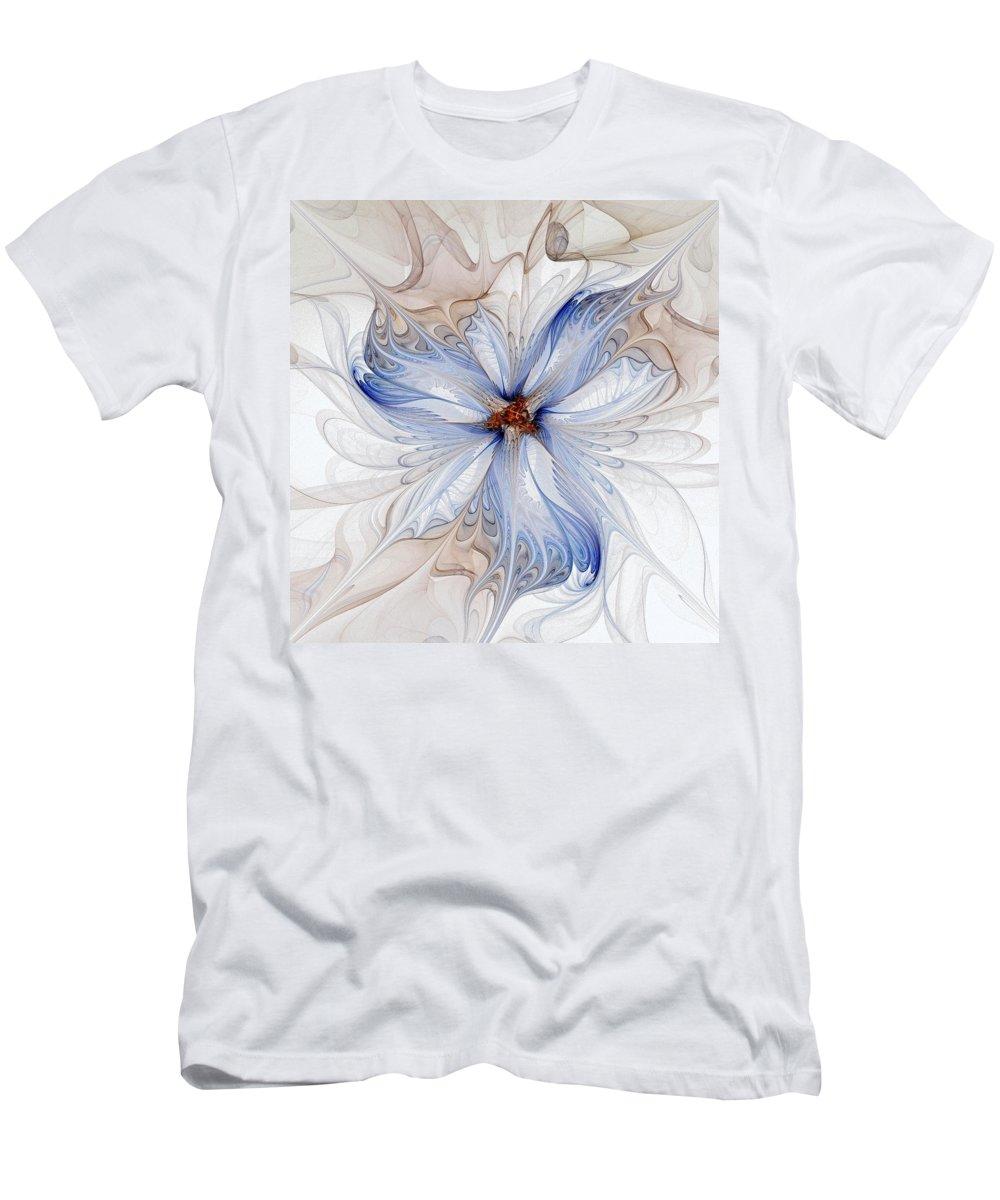 Digital Art Men's T-Shirt (Athletic Fit) featuring the digital art Cornflower Blues by Amanda Moore