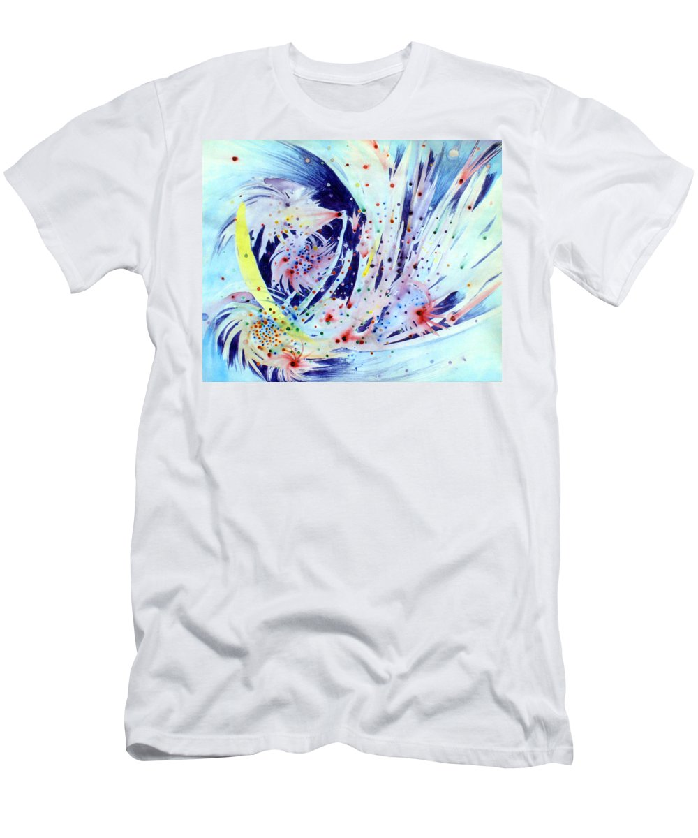 Abstract Men's T-Shirt (Athletic Fit) featuring the painting Cosmic Candy by Steve Karol