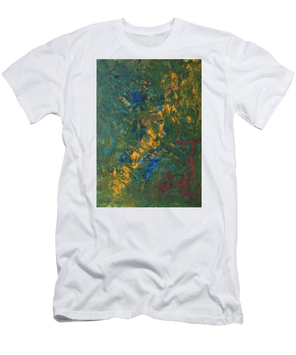 Abstract Art Men's T-Shirt (Athletic Fit) featuring the painting Cosmic Powder by John Dossman