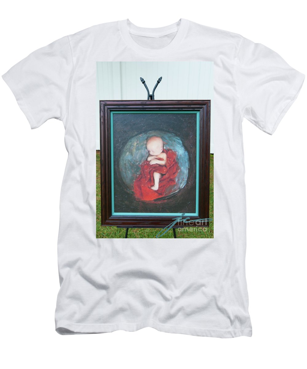 Newborn Men's T-Shirt (Athletic Fit) featuring the painting Creating Life by Julie Clyde