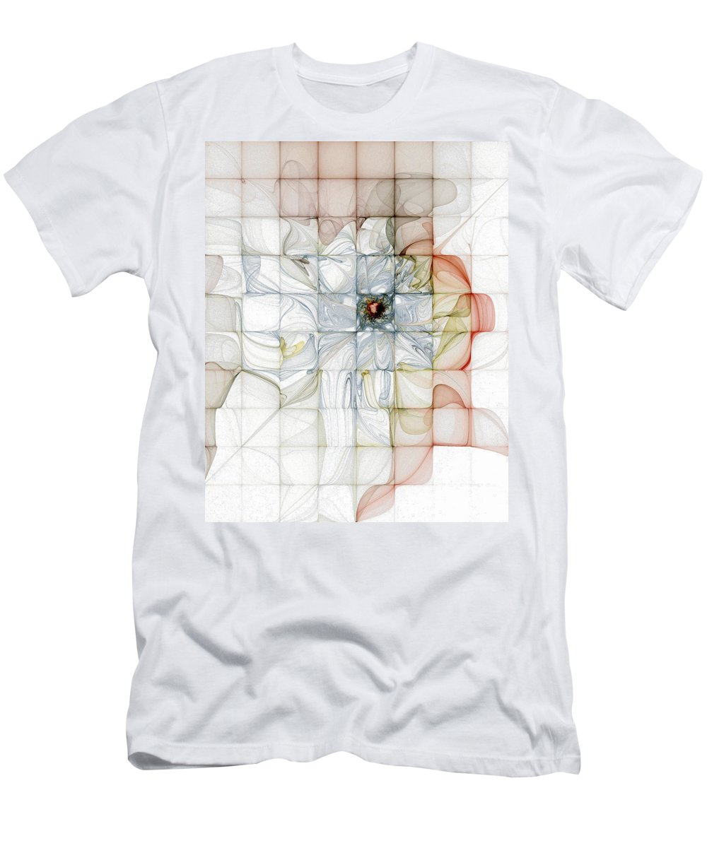 Digital Art Men's T-Shirt (Athletic Fit) featuring the digital art Cubed Pastels by Amanda Moore