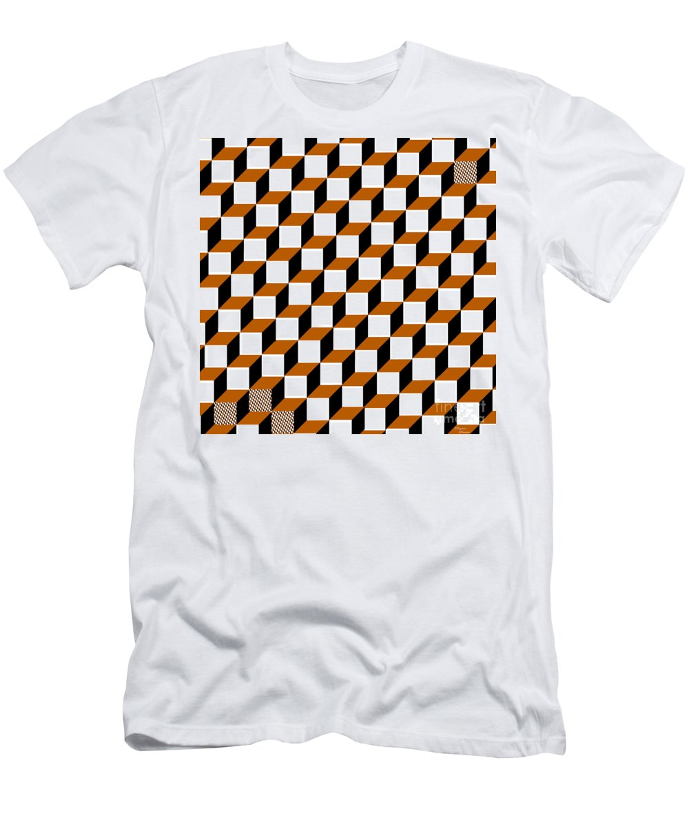 Clay Men's T-Shirt (Athletic Fit) featuring the digital art Cubism Squared by Clayton Bruster