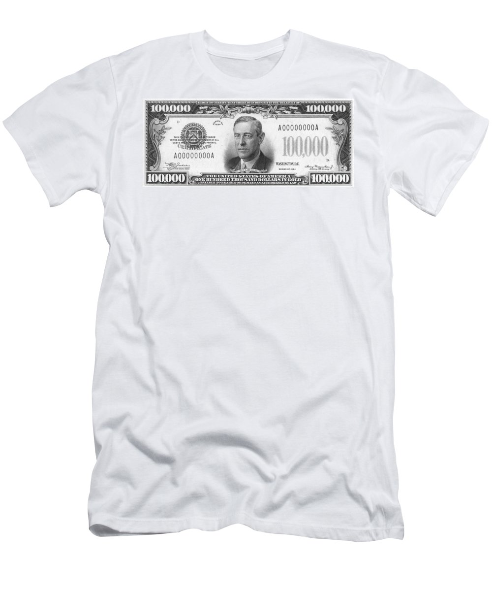 100 Mens T Shirt Athletic Fit Featuring The P Ograph Currency 100000 Dollar