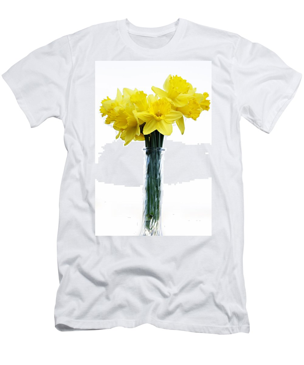 Daffodil Men's T-Shirt (Athletic Fit) featuring the photograph Daffodil by Marilyn Hunt