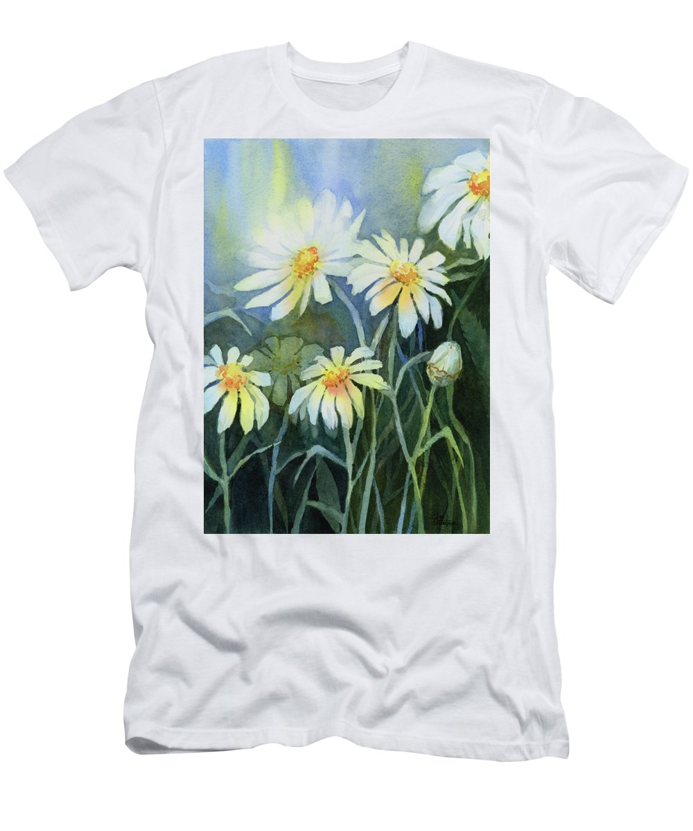 Daisies flowers t shirt for sale by olga shvartsur daisies mens t shirt athletic fit featuring the painting daisies flowers by olga izmirmasajfo Images