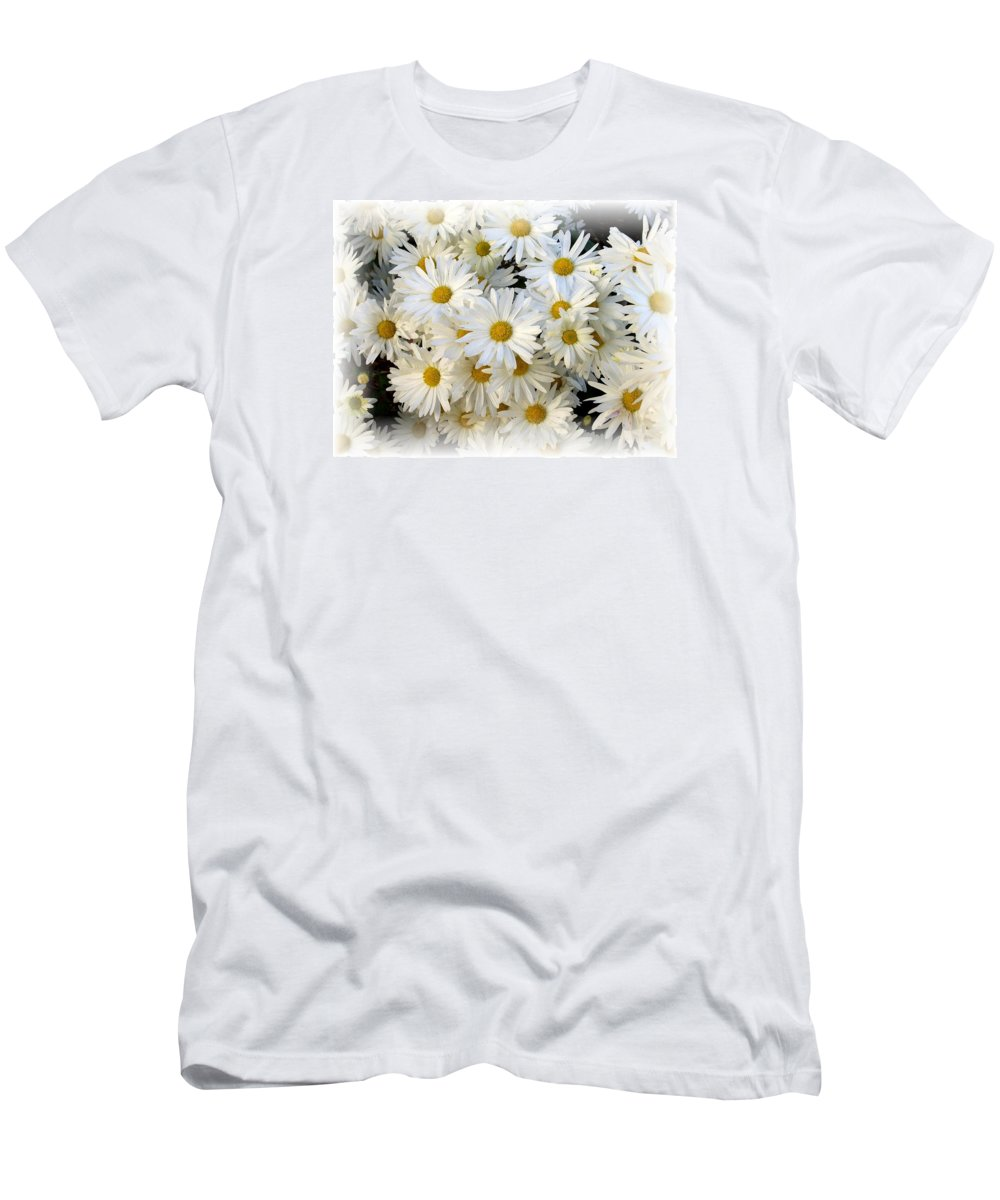 Daisy Men's T-Shirt (Athletic Fit) featuring the photograph Daisy Bouquet by Carol Sweetwood