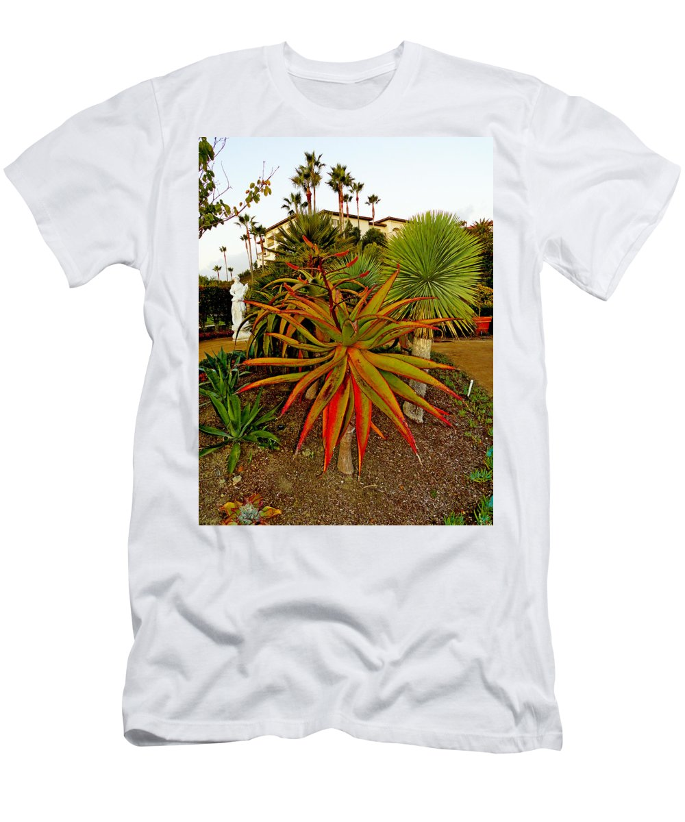 Dana Point Men's T-Shirt (Athletic Fit) featuring the photograph Dana Point Garden by Robert Meyers-Lussier